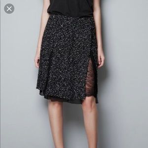 Zara tweed lace skirt